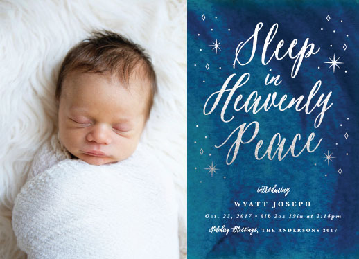 holiday photo cards - Heavenly Peace by Basil Design Studio