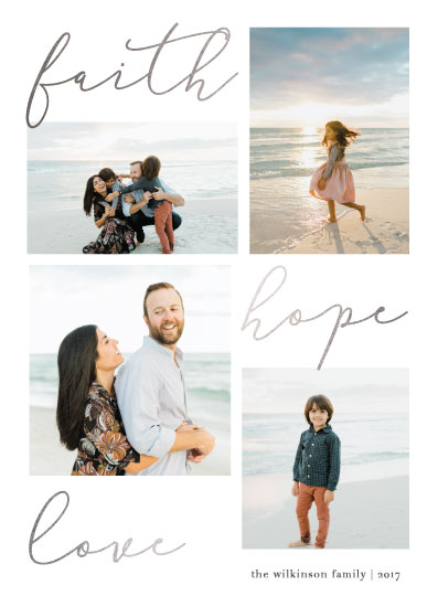holiday photo cards - Trio by Bethan