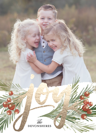 holiday photo cards - foraged joy by shoshin studio