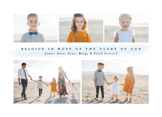 holiday photo cards - Rejoice in hope by Lea Delaveris