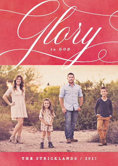 holiday photo cards - Glory Scripted by Hooray Creative