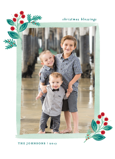 holiday photo cards - Botanical Accents by Shirley Lin Schneider