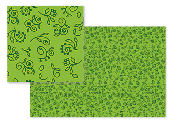 fabric - Fiddleheads and Flora by Debbie Quist