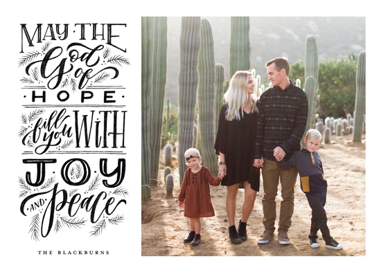 holiday photo cards - God of Hope by Wildfield Paper Co.