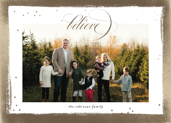 holiday photo cards - Golden Frame by Shirley Lin Schneider