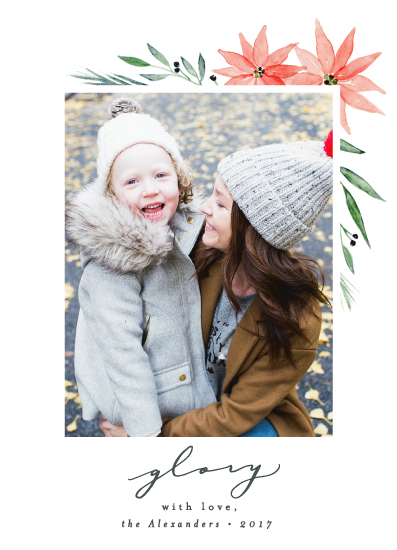 holiday photo cards - Floral Glory by Everett Paper Goods