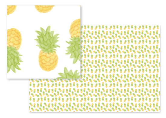 fabric - Painted Pineapples by Jordyn Alison Designs
