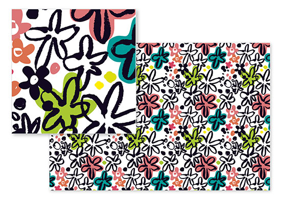 fabric - Floral Frenzie by Danielle Hartgers