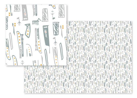 fabric - Fins by Amelia Lepak