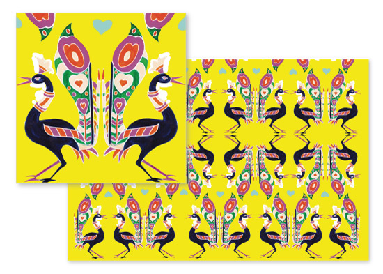 fabric - Mustard love by Misari