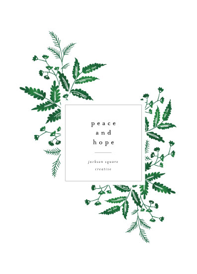 non-photo holiday cards - Organic by Nazia Hyder