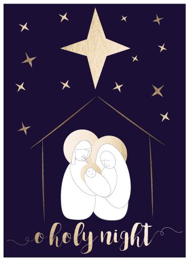 non-photo holiday cards - O Holy Night by eva jones