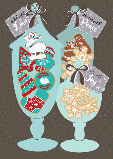 non-photo holiday cards - Baked with Love by Camilla Acosta