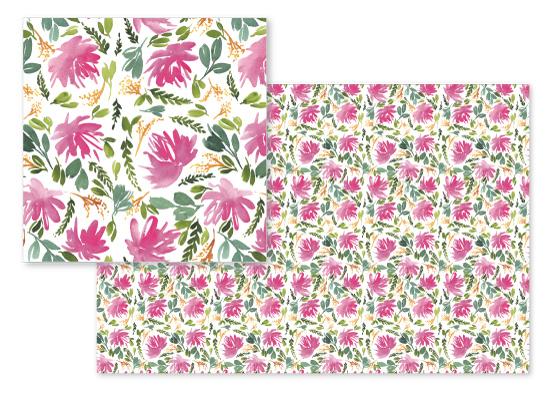 fabric - Pink Peonies by Taniya Varshney