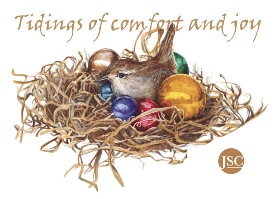 non-photo holiday cards - Tidings of Comfort and Joy by Karen Ritz