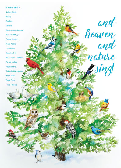 non-photo holiday cards - Heaven and Nature Sing by Karen Ritz