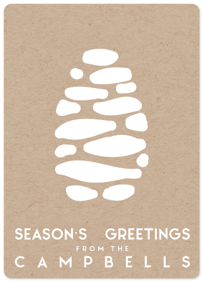 non-photo holiday cards - Cloud Cone by CJ Nye