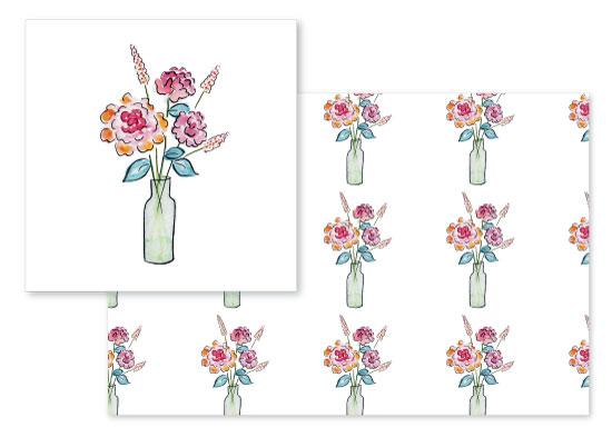 fabric - Flower arrangements by Rachel Rogers
