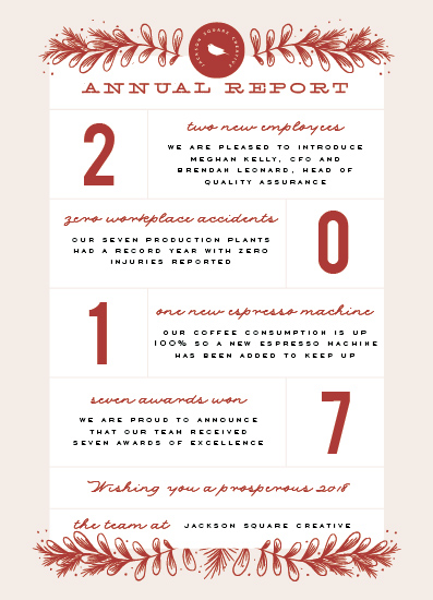 non-photo holiday cards - Annual Report by Leah Bisch