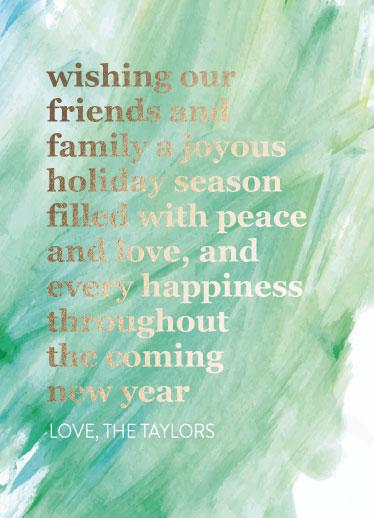 non-photo holiday cards - Watercolor Holiday by Sarah Taylor