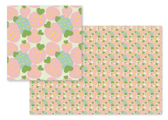 fabric - spring strawberry by Becky Harold