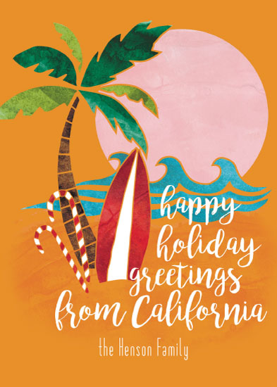 non-photo holiday cards - Greetings from Cali by Emily Cellini Henson
