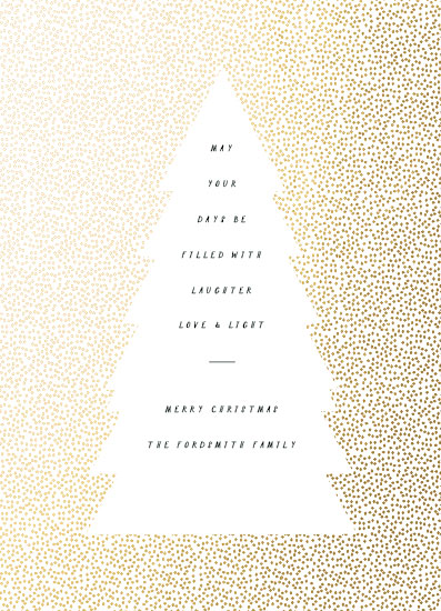 non-photo holiday cards - Dotted Tree Frame by Baumbirdy