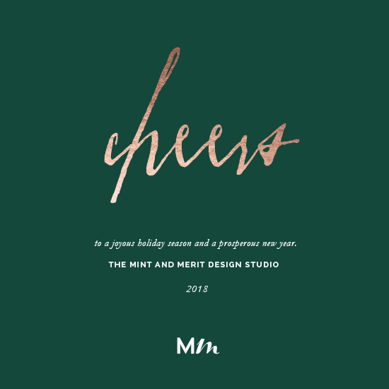 non-photo holiday cards - Holiday Cheers by Mint and Merit