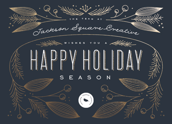 non-photo holiday cards - The Season by Leah Bisch
