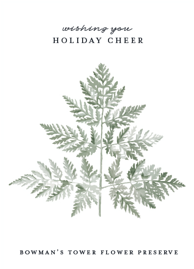 non-photo holiday cards - Delicate Fern by Nicolette Myslinski