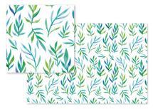 Watercolor greenery by Rachel Rogers