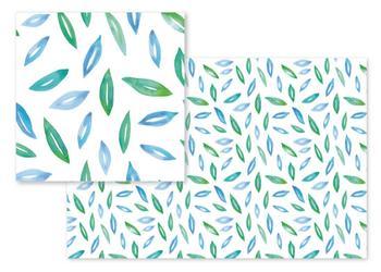 Watercolor floating leaves