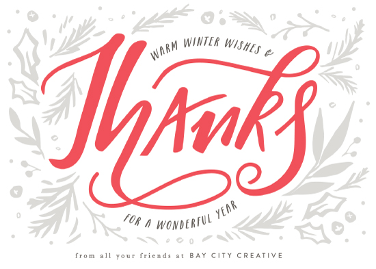 non-photo holiday cards - Festive gratitude by Sweta Modi