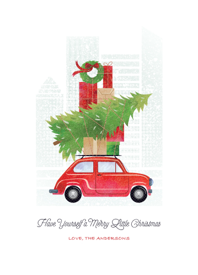 non-photo holiday cards - Little Christmas Big City by Paper Sun Studio