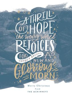 A Thrill of Hope Lettering