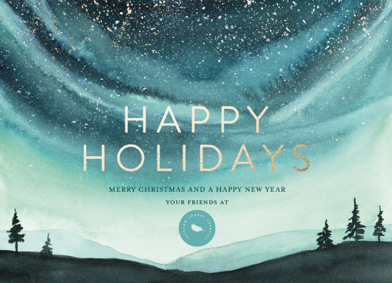 non-photo holiday cards - Xmas Aurora by Petra Kern
