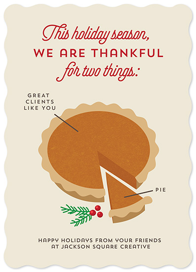 non-photo holiday cards - Pie Chart by Holly Whitcomb