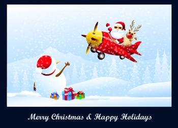 Merry Christmas & Happy Holidays Greetings