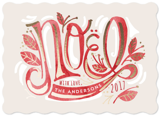 non-photo holiday cards - Fancy Noel by JeAnna Casper