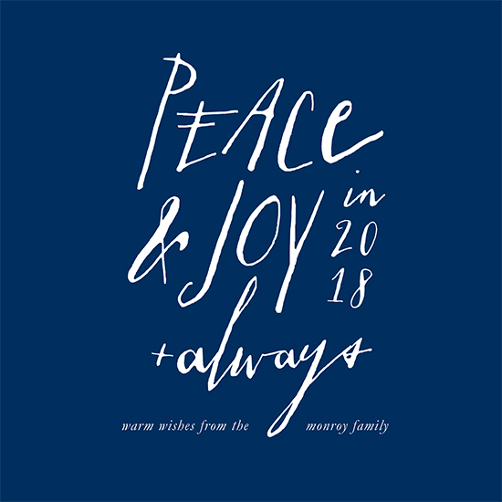 non-photo holiday cards - Joy & Peace Always by Mint and Merit