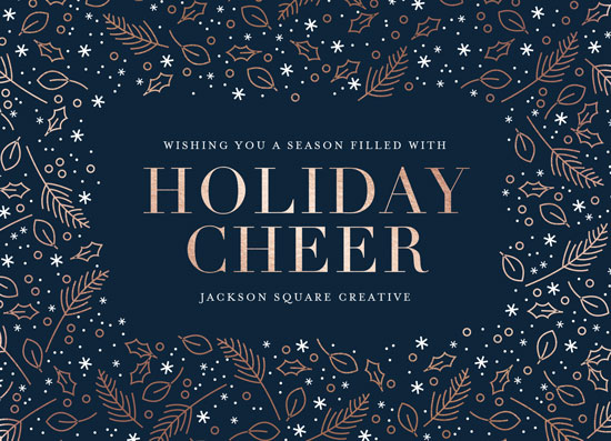 non-photo holiday cards - Season of Cheer by Jennifer Postorino