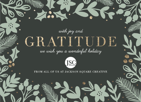 non-photo holiday cards - Bold Gratitude by Beth Schneider