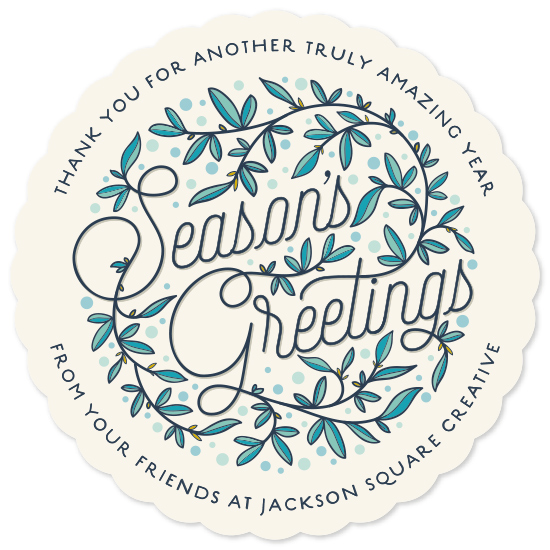 non-photo holiday cards - Winter Branches by GeekInk Design