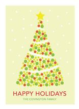 Dots and Snowy Tree by LouisaKay Design Co.