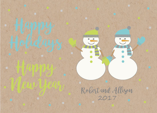 non-photo holiday cards - Snowy Holiday Love by LouisaKay