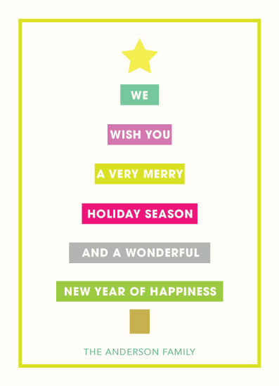 non-photo holiday cards - Modern Greeting by LouisaKay
