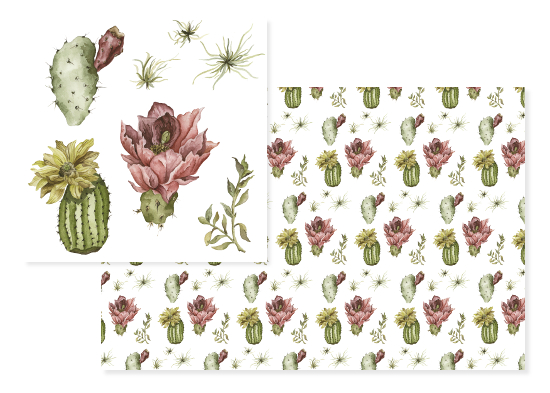 fabric - Oh So Succulent by Cara Rosalie Olsen