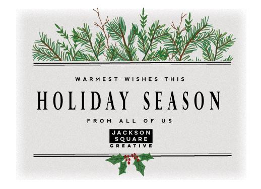 non-photo holiday cards - holiday season by frances