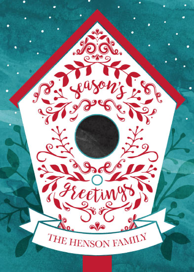 non-photo holiday cards - Greetings from a Birdie by Emily Cellini Henson