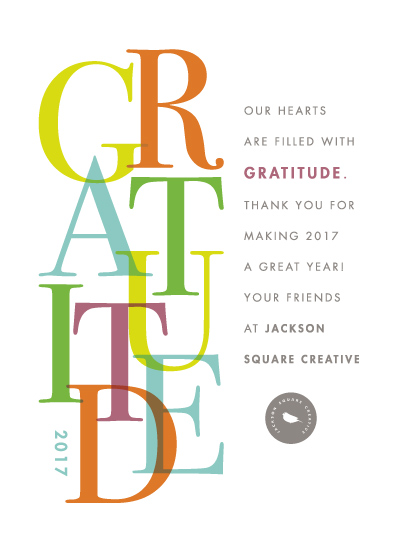 non-photo holiday cards - gratitude by Snow and Ivy